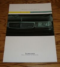 Original 1994 Lincoln Continental Deluxe Sales Brochure 94