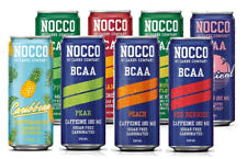 Nocco BCAA Drink, No Carbs, 24 x 330ml cans, all 8 Flavours - Official Supplier
