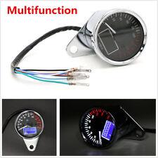 Universal KMH Motorcycle Fuel Level Meter Digital Odometer Speedometer Gauge 12V