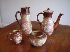 Exceptionnel ensemble de Antique ROYAL DOULTON Slaters brevet service de café. 4 objets