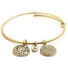 Chrysalis Good Fortune Cubic Zirconia Small (child or small adult) Gold Bangle