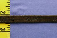 """Leather Braid Trim Ribbon Gimp Fur Coat Sewing Repair 1/2"""" Brown 5 yds #BG215"""