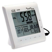 Indoor Air Quality Monitor Temperature RH CO2 Carbon Dioxide Meter Wall Mounted