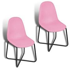 Esszimmerstuhl Küchenstuhl Stuhl 2er Set Vintage Essstuhl Stoffbezug Stühle Rosa