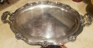 LARGE VINTAGE REED & BARTON  SILVERPLATE SERVING TRAY 26""