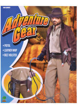 Indiana Jones Style Black Holster and Whip HOLSTER IS BLACK NOT BROWN