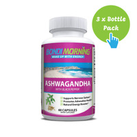 Ashwagandha with Black Pepper 1300 mg, Immune Support Supplement - 60 Caps x 3