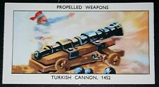 Siege of Constantinople Turkish Cannon Vintage Illustrated Card