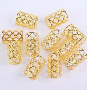 20X Gold silver Hair Coils Cuffs Braid Dreadlock Aluminum Hair Decoration Jewelr