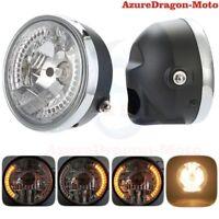 "Universal Motorcycle 8"" Headlight LED Turn Signal Indicators Amber Light Hot"