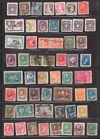 Lot of old Canada used stamps -  superfleas