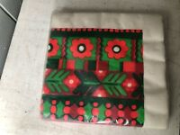 Vintage Gibson Napkins Swedish Christmas style red green Party Papers New