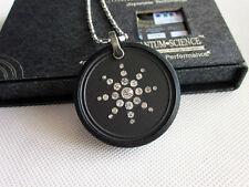 Nuevo Collar Colgante de Energía Escalar Bio + Protector De Goma & CZ Detalle De Diamante