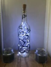 Winnie The Pooh Disney, Light up wine bottle, LED light, Decal, Present Gift