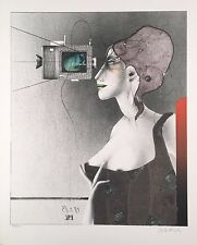 "Paul Wunderlich, Ltd. Ed. Original lithograph, hand signed,""Paul gut getroffen"""
