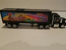 AMA 18-Wheel Box Trailer Truck With Coinbank Motorcyle Heritage Express toy
