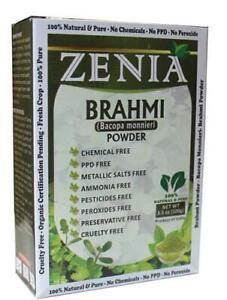100g Zenia Natural Pure Brahmi Powder Box (Bacopa monnieri) Edible Hair Growth