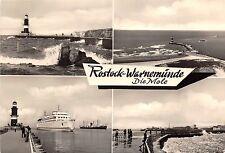 Bg16925 ship bateaux rostock warnemunde mole lighthouse germany Cpsm 14.5x9cm