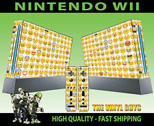 NINTENDO WII STICKER EMOJI FACES ICONS MOODS SMILEYS SKIN & 2 PAD SKINS