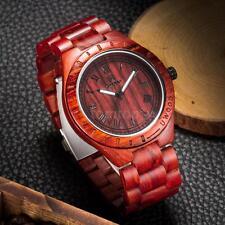 UWOOD Casual Men's Sandal Wooden Analog Quartz Wristwatch Luminous Watch F2E8
