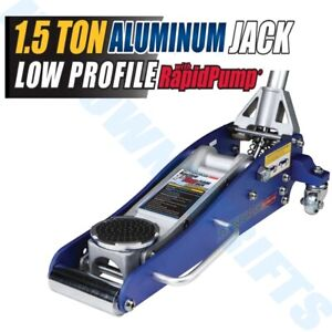 3000lbs Low Profile Aluminum Floor Jack 1.5 Ton Lift Capacity Rapid Pump Car NEW