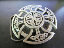 Great American Belt Buckle Company 2000 Celtic Irish Cross Enamel Pewter