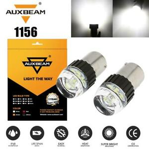 AUXBEAM White 6000K 1156 BA15S P21W LED Light Bulbs Turn Signal Backup Reverse