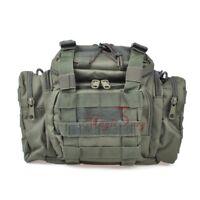 Carp Fishing Tackle Bag 900D Oxford Fabric Waist Shoulder Storage Carry Green