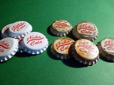 White Nuka cola caps from Fallout 4  x8 (old and new looking)