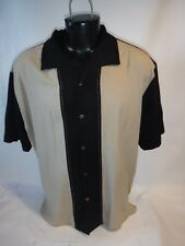 #8407 VINTAGE SILK ALOHA SURF SS SILK SHIRT MEN'S XLARGE PREOWNED