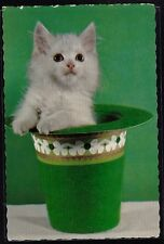 Vintage Postcard Adorable Cat / Kitten in Hat - Hallmark - Unused - #3
