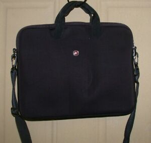 Swiss Gear Wenger Legacy 14.1 Laptop Computer Carrying Case Sleeve ~ Black