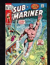 Sub-Mariner #38 ~ Namor Agonistes! 1971 (Grade 7.5) Wh