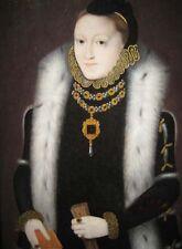 Fine Oil painting female portraits Queen Elizabeth at National Portrait Gallery