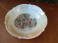 Antico piatto in ceramica di Baviera decoro cavallo stile XVIII° arte popolare