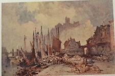 Fish Market. Folkestone Harbour, William Callow. Color Plate. The Studio, 1916