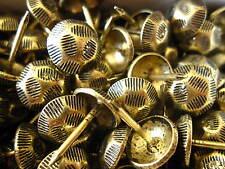 500 OXFORD HAMMERED NAILS BRASS FURNITURE STUDS 1cm brass tacks