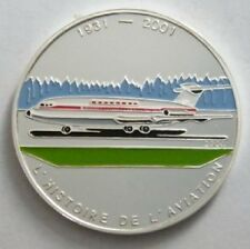 2004 Congo Large Silver Color Proof 1000 fr Airplane BAC-111