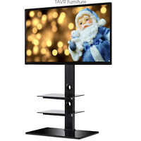 RFIVER Swivel TV Stand with Mount for 32 to 65 inch TF2002 (3 SHELF)