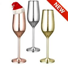 Shatterproof Stainless Steel CHRISTMAS GIFT Wine Cup Glass Champagne Mug Drink