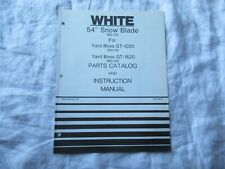 """White 54"""" snow blade operator's manual parts catalog GT  lawn tractor"""
