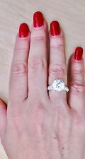 5CT Simulated ROUND DIAMOND Engagement Ring 925 REAL Sterling SILVER sz JKLMNOPR