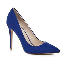 Faith by Debenhams Chloe Womens UK 4 Blight Blue High Heel Pointed Court Shoes