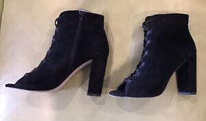 Wayne Cooper suede leather heels Black - Size 39  + Free Post