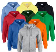 Gildan Mens Full Zip Hoodie Heavy Blend Jumper Winterwarm Hooded Sweatshirt New