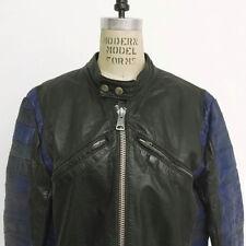 ⭕ 70s Vintage Cafe Racer Leather biker Jacket : pants aviakit shirt triumph 80s