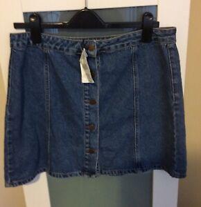 Denim Skirt Size 16 Bnwt