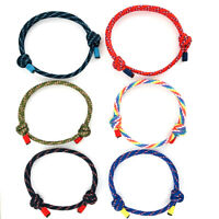 Simple Style Umbrella Rope Bracelet For Man Woman Adjustable Braided Bracelets