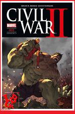 CIVIL WAR II 2 02 Fev 2017 Cover 2/2 Marvel Panini Coipel Bendis # NEUF #