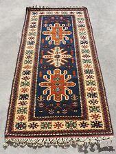 3x6ft. Beautiful Turkish Melas Blue Wool Rug